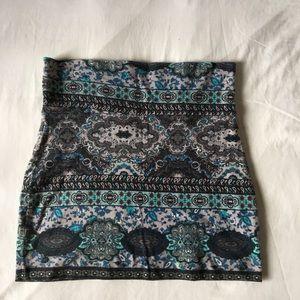 Dresses & Skirts - ✨Blue Flowery Pattern Mini Skirt✨